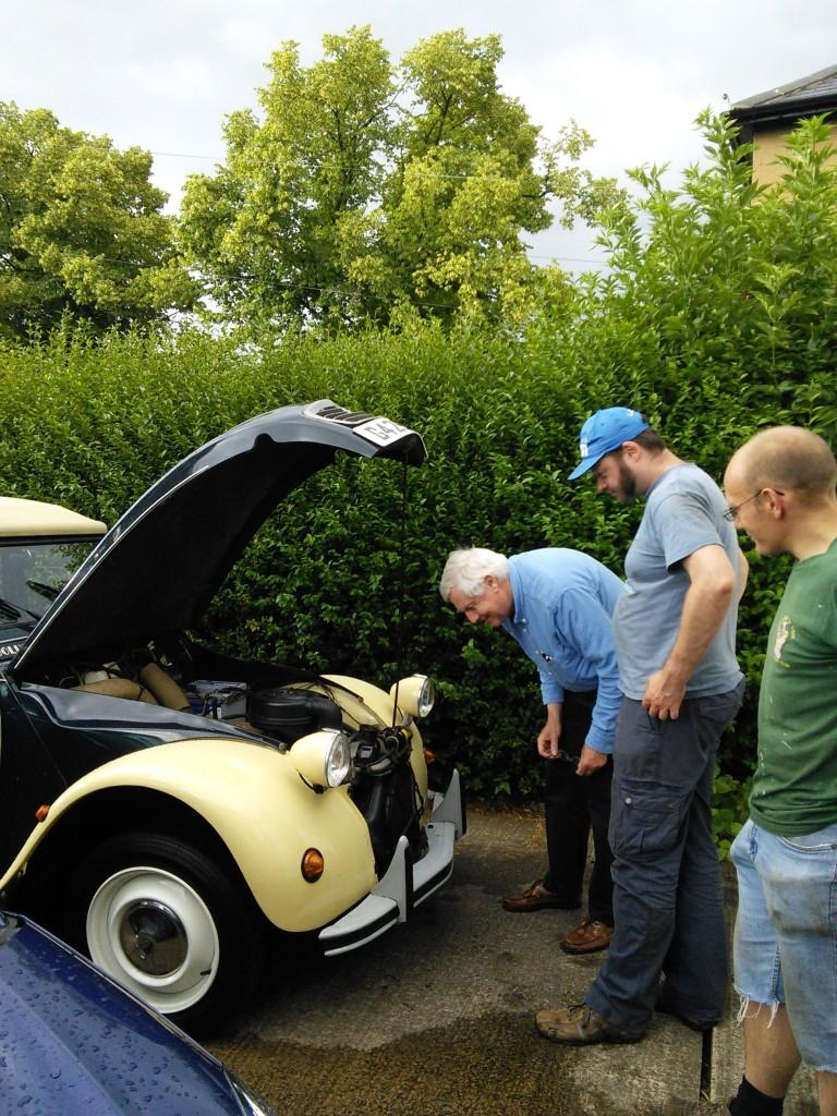 Checking under the bonnet of a 2CV