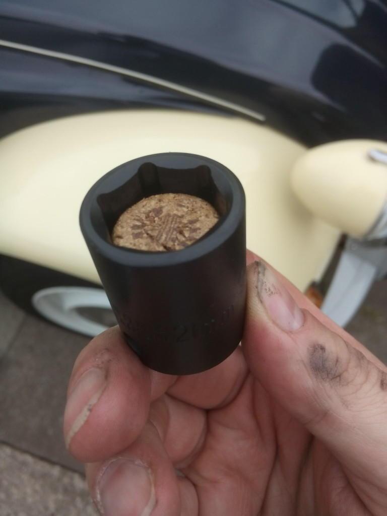 2CV sump plug socket