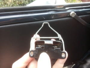 2CV front window latch reverse side