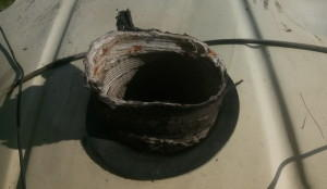 Cardboad 2CV heat dump-off tubes
