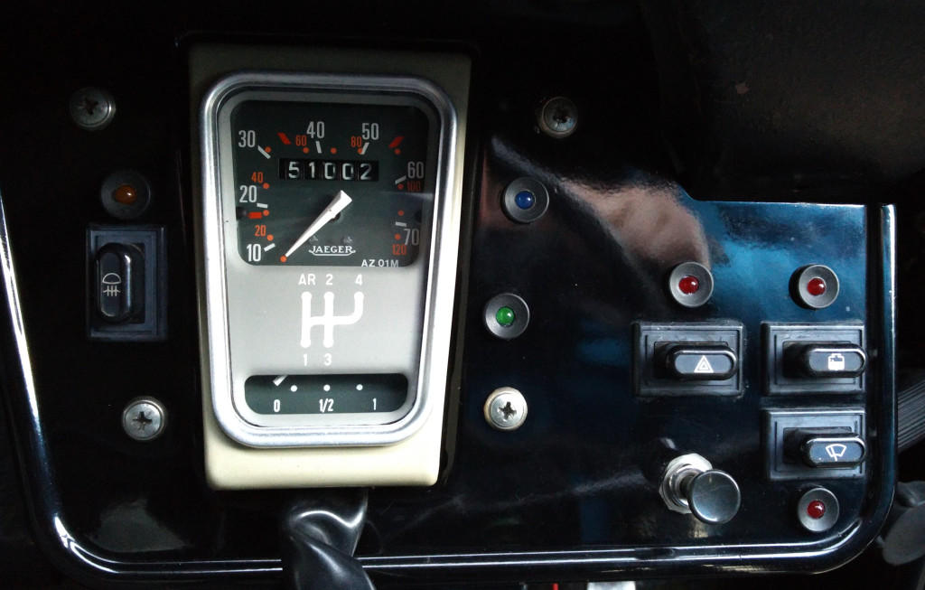 2CV LED dashboard indicator lights in place