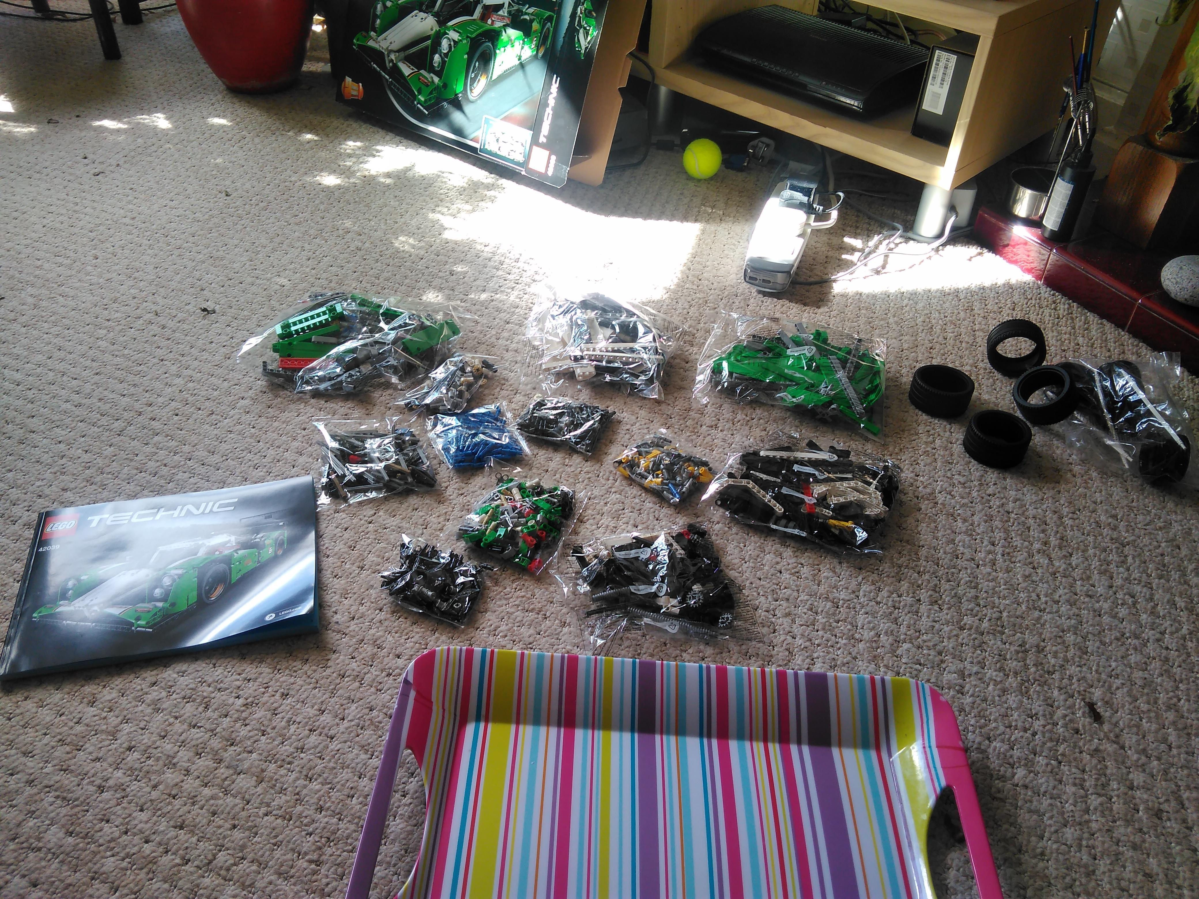 Lego Technic 24 Hours Race Car ready to build