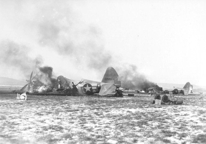 US Aircraft destroyed on the ground as part of Bodenplatte