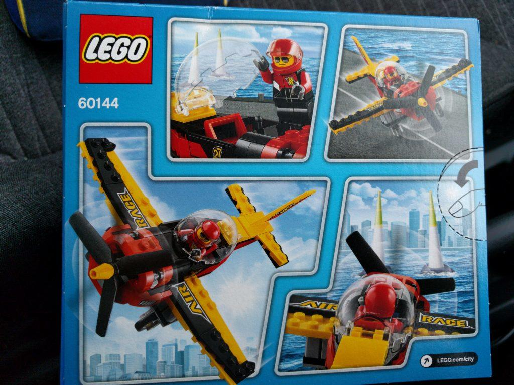 Lego Air Racer (60144) back of box