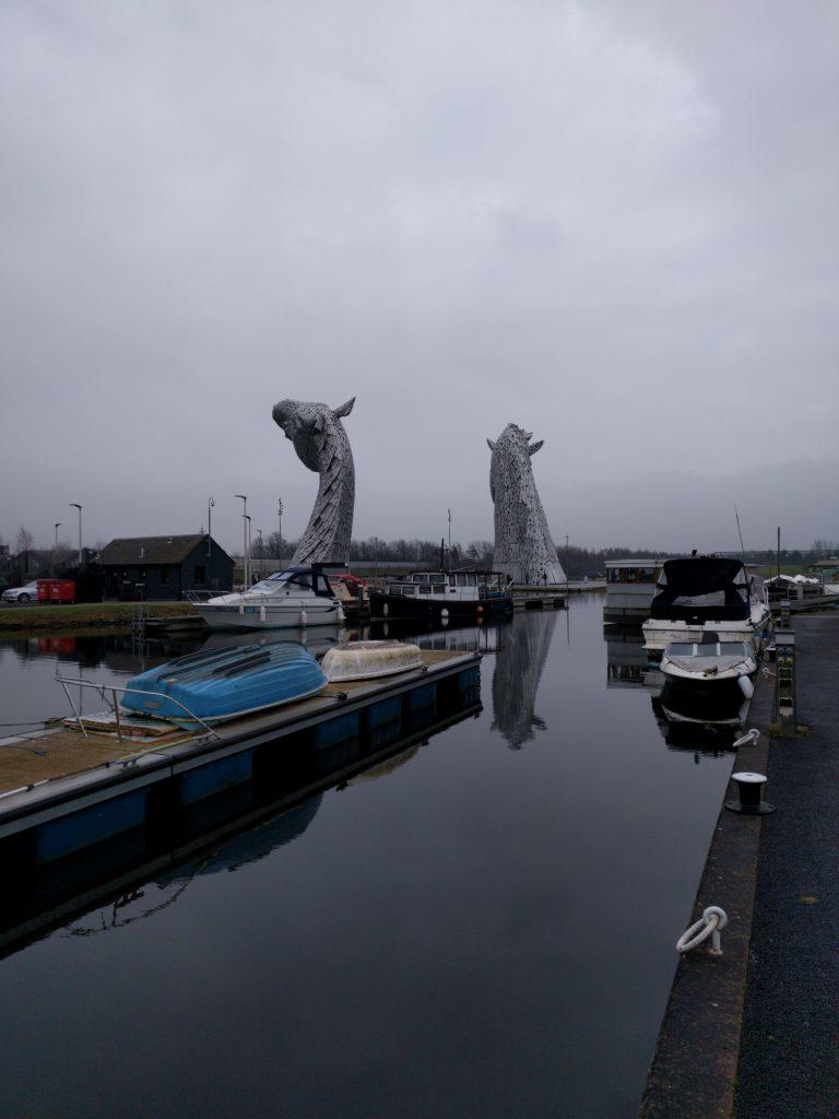 Duncan and Barrie Kelpies