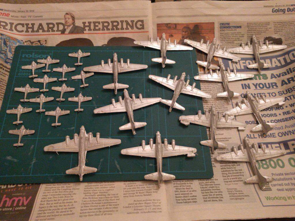 1:300 FW 190s and B-17s