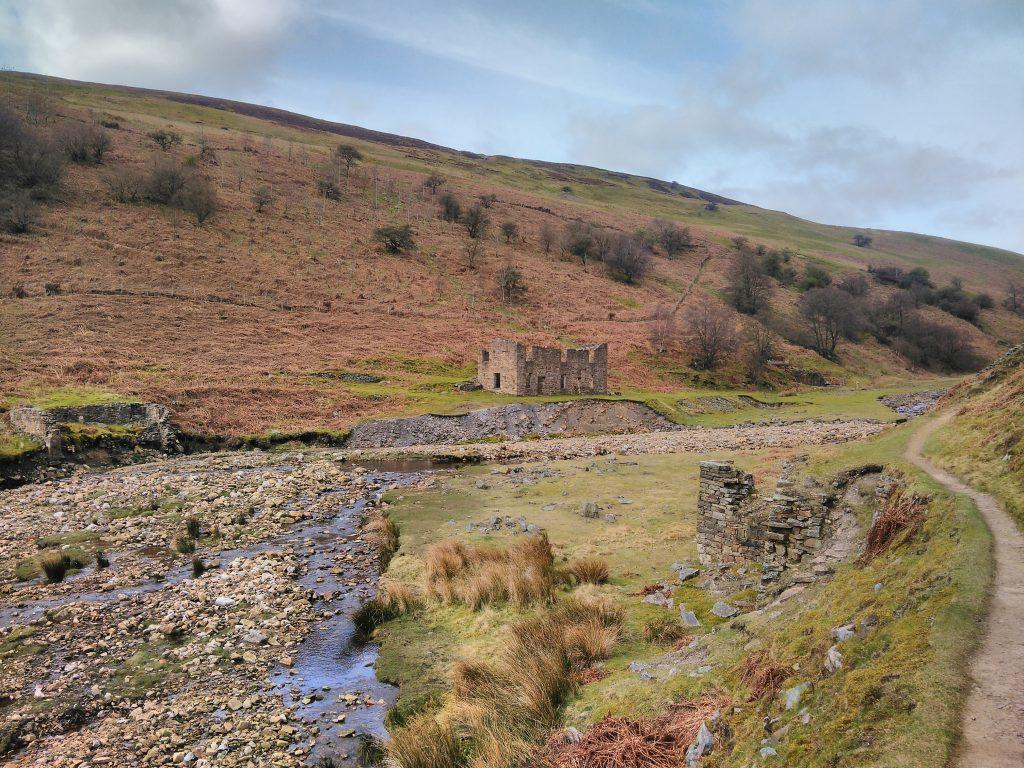 Sir Francis Mine office ruins, Gunnerside Gill