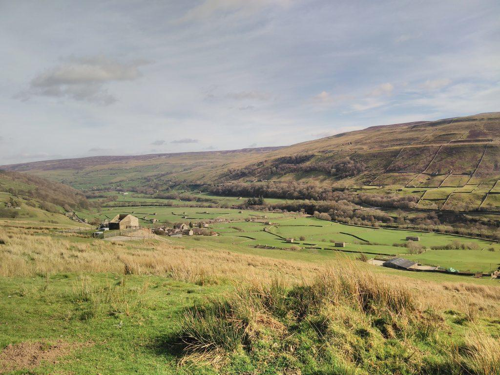 Swaledale looking East towards Gunnerside