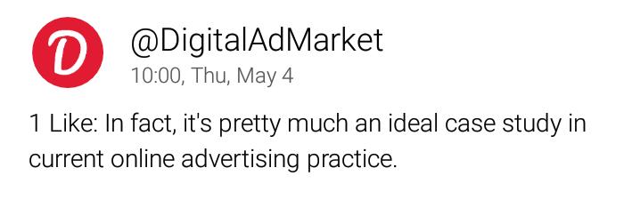 Online marketing Twitter bot lies a tweet about online marketing
