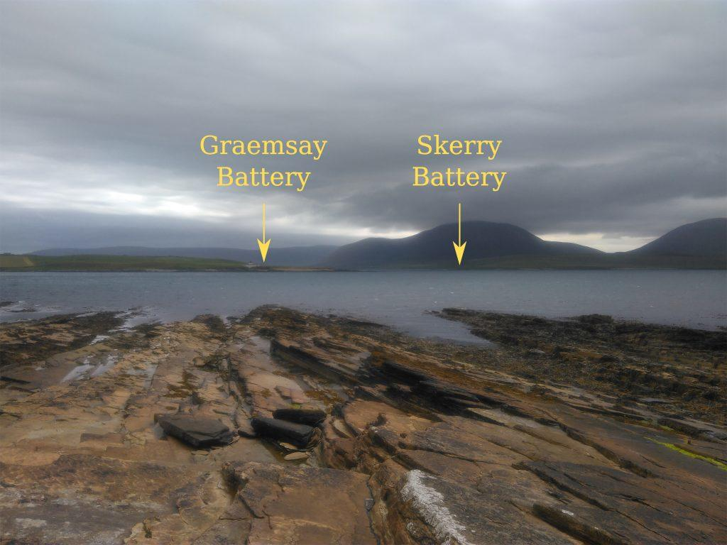 Graemsay and Skerry Batteries from Ness Battery