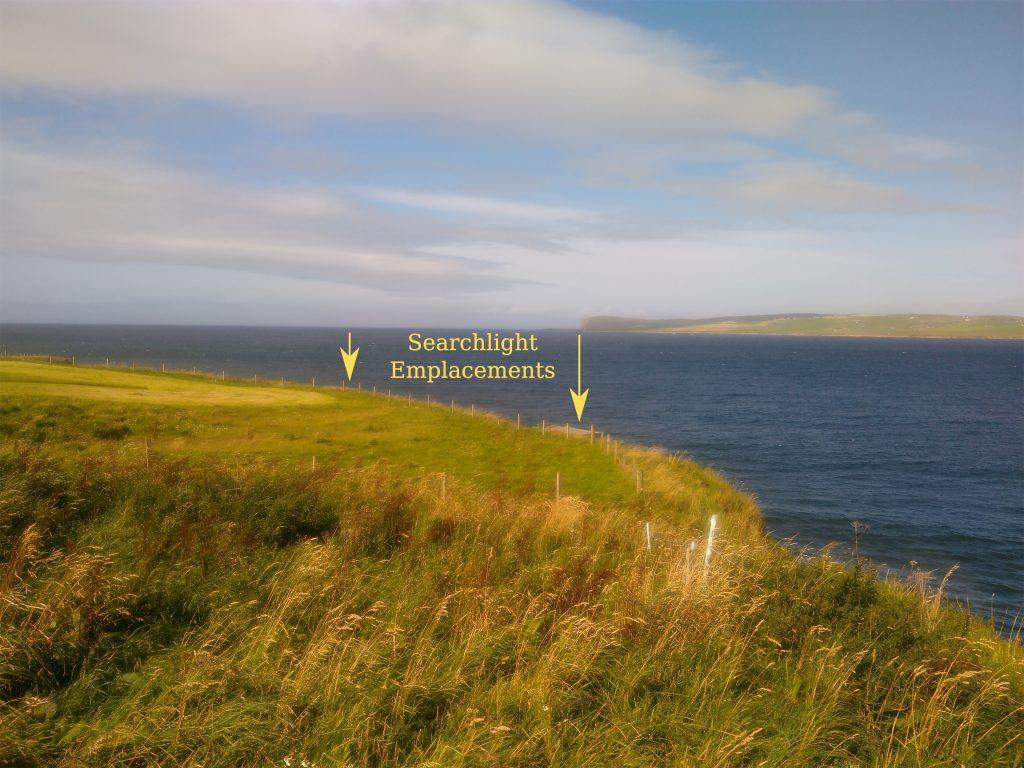 Skerry Battery searchlight emplacements
