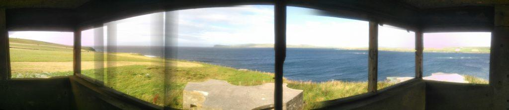 View from Skerry Battery fire control tower