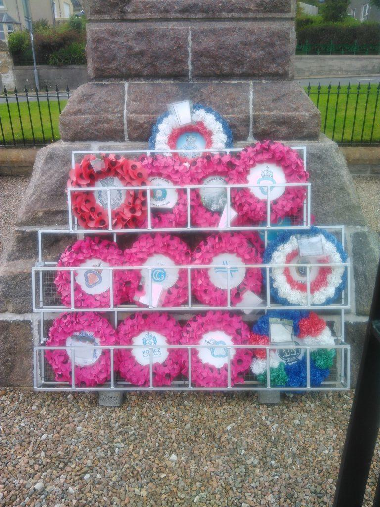 Stromness War Memorial - wreaths