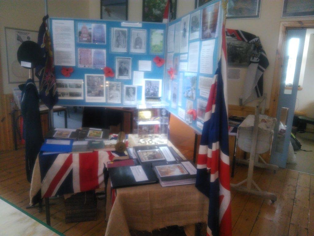 Sanday War Memorial display in the Heritage Centre