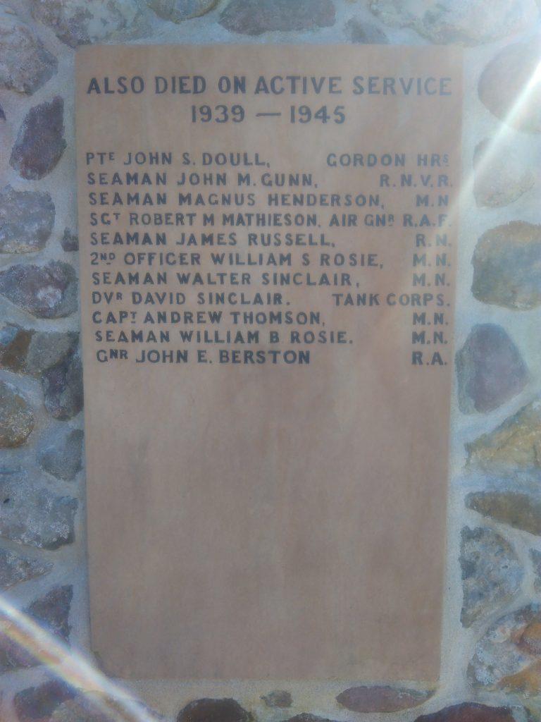 South Ronaldsay War Memorial