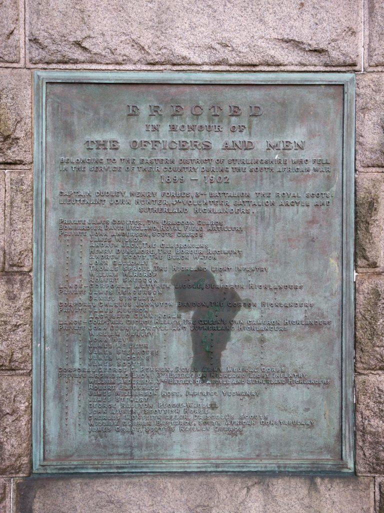 Falkirk South African War Memorial