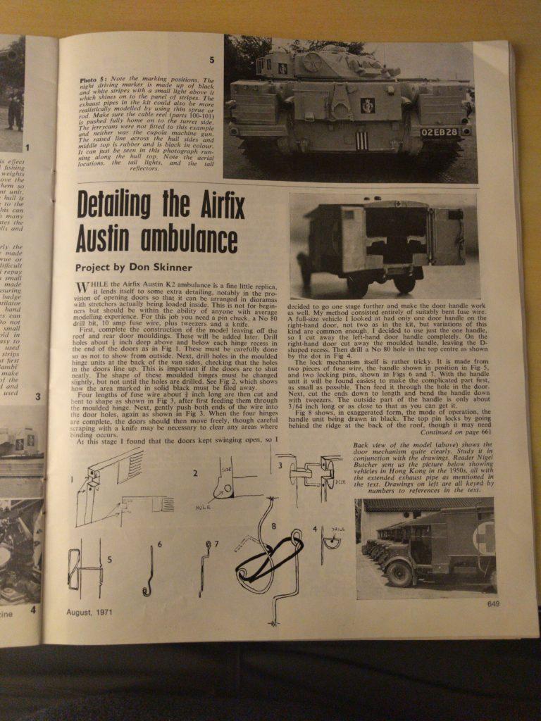 Airfix Magazine August 1971 - Page 649