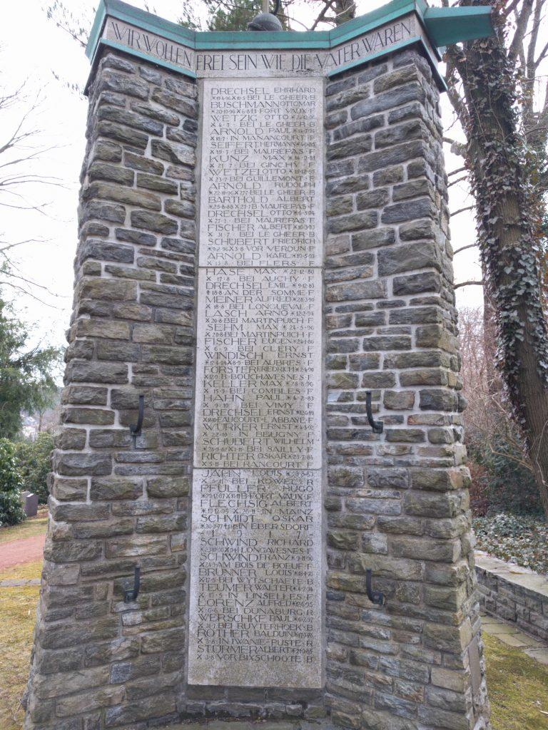 Gornsdorf WWI war memorial