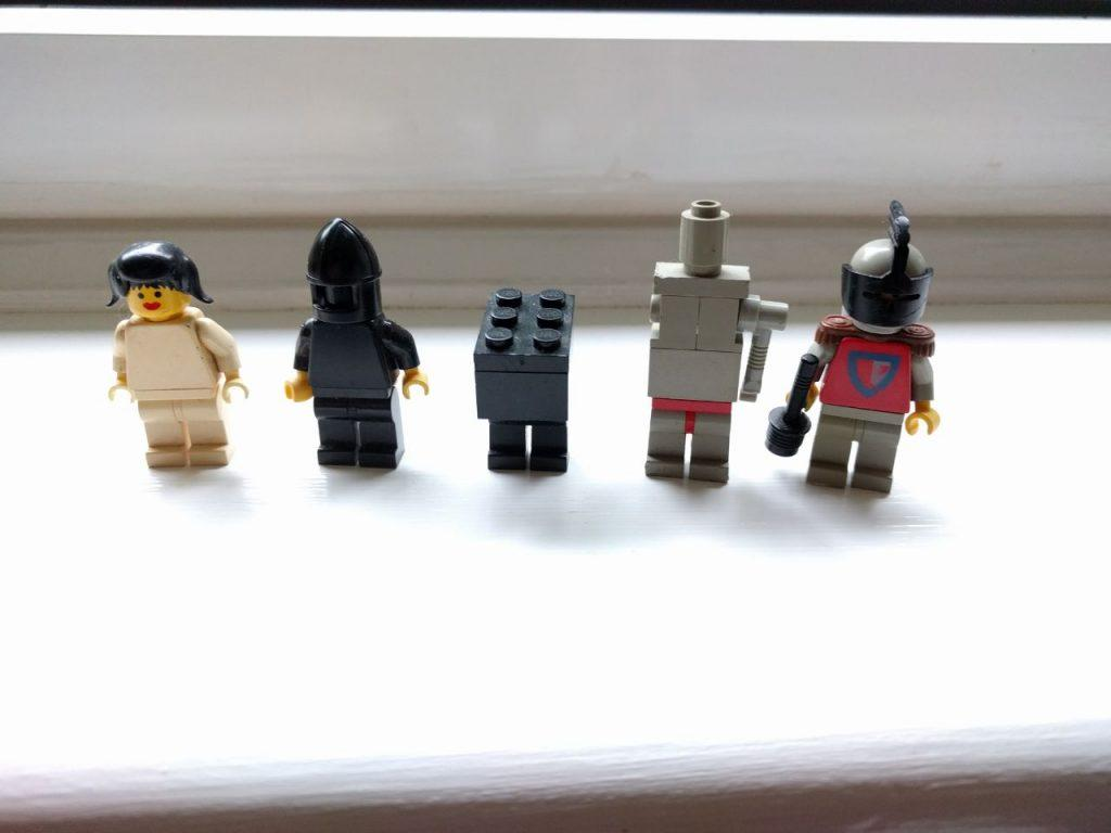 Lego Leia Organa, Darth Vader, Gonk Droid, IG88 and Boba Fett
