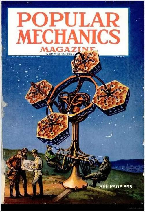 Cover of Popular Mechanics, December 1930, showing a Perin acoustic locator