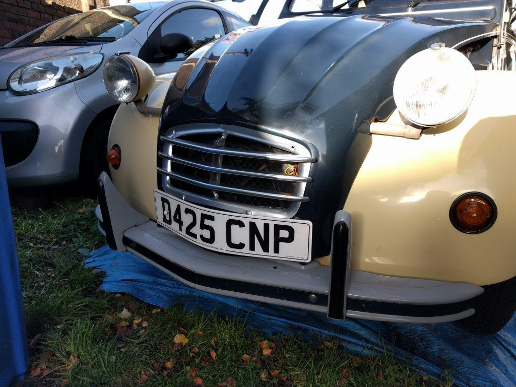 Three bar grill fitted to a 2CV