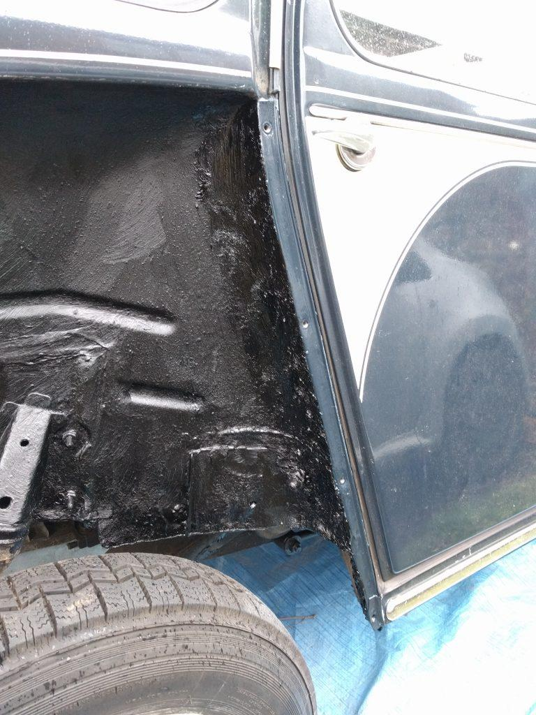 2CV off side wheel arch