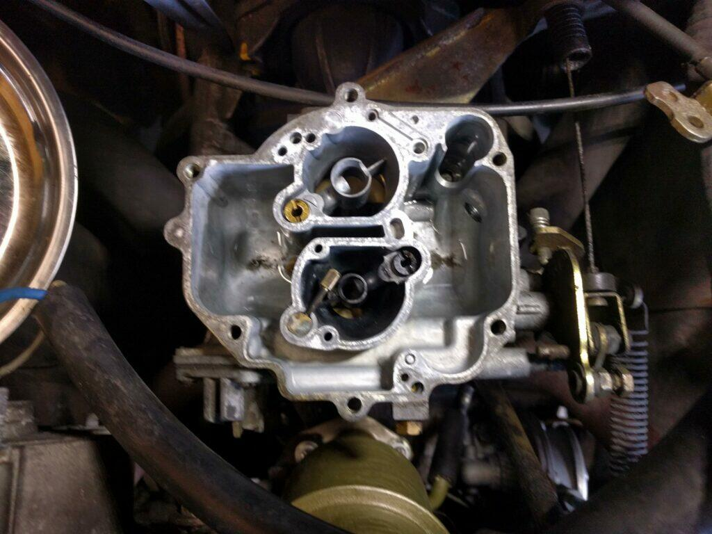 Interior of a 2CV carburettor