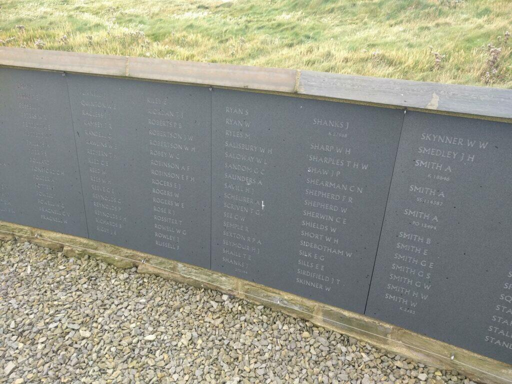 Names of crew lost on HMS Hampshire